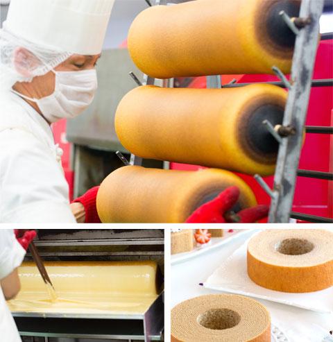 バームクーヘン製造の写真
