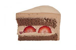 フレッシュチョコクリームケーキカット画像