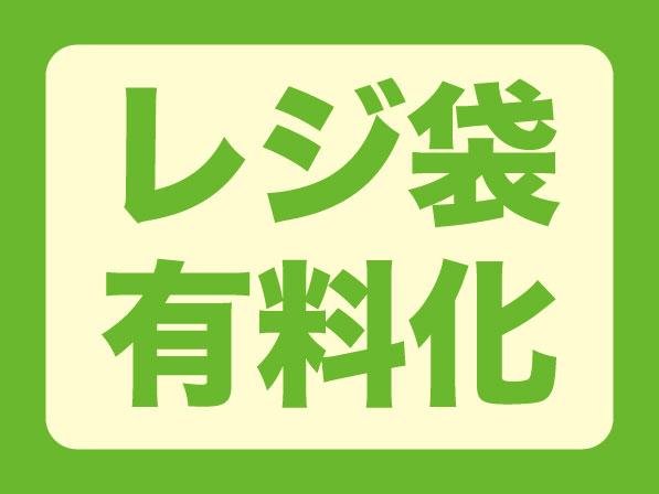 容器包装リサイクル法の省令改正により7月1日よりレジ袋有料化になります